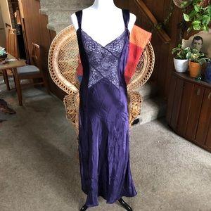 Vintage Victoria's Secret Purple Satin Negligee